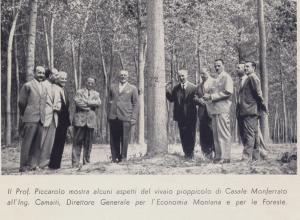 Al centro il Ministro e il Prof. Piccarolo, il primo a sinistro  è il prof. Guglielmo Giordano e il terzo da destra è il Dott. Chiarabba.